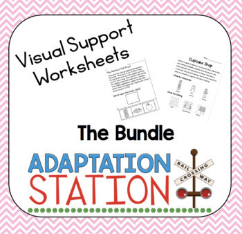Reading Visual Support Worksheets-The Bundle