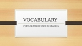 Reading Vocabulary