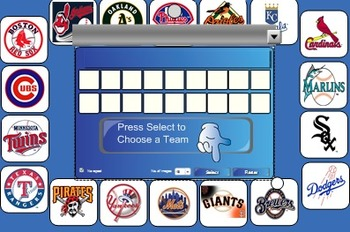 Reading Vocabulary Baseball Review Game SMARTBOARD