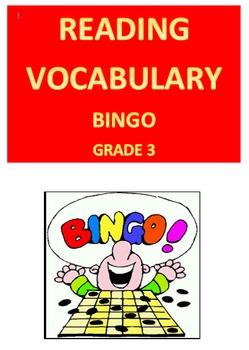 Reading Vocabulary Bingo -- Grade 3