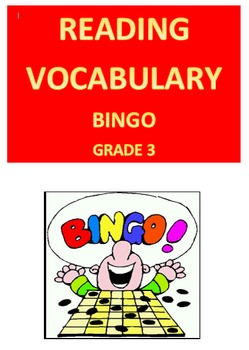 Reading Vocabulary Bingo -- Grade 3