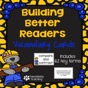 Reading Vocabulary Cards: Building Better Readers