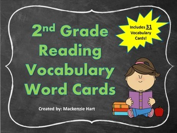Reading Vocabulary Cards for 2nd grade