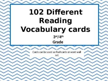 Reading Vocabulary Chevron Blue