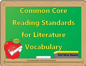 Reading Vocabulary Common Core