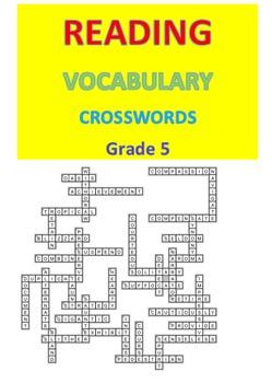 Reading Vocabulary Crosswords  Grade 5