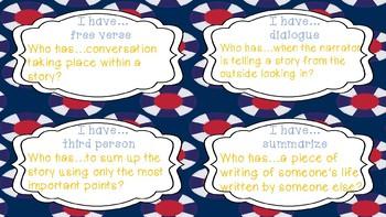 Reading Vocabulary: I have...Who has (Set 2)