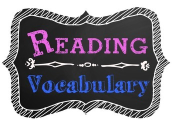 Reading Vocabulary Poster Chalkboard Theme