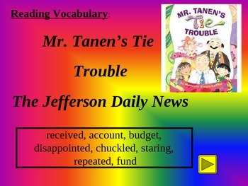 Reading Vocabulary Power Point Mr. Tannen's Tie Trouble
