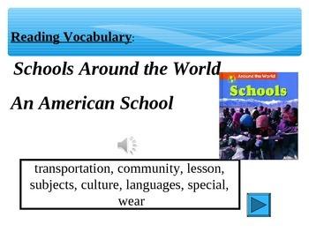 Reading Vocabulary Power Point Schools Around The World