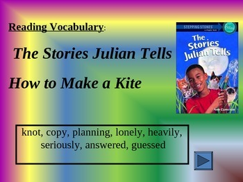 Reading Vocabulary Power Point for 2nd Grade The Stories Julian Tells