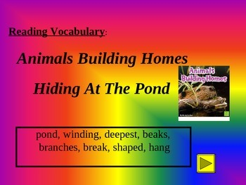 Reading Vocabulary Power Point for Animals Building Homes