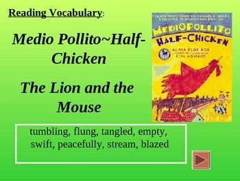 Reading Vocabulary Power Point for Half Chicken 2nd grade