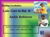 Reading Vocabulary Power Point for Luke Goes to Bat
