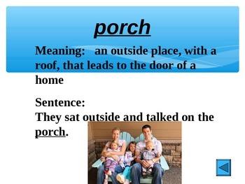 Reading Vocabulary Power Point for Mi Familia My Family