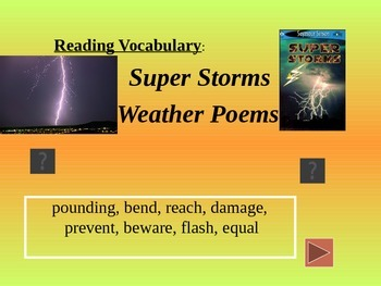 Reading Vocabulary Power Point for Super Storms