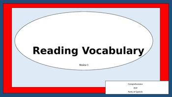 Reading Vocabulary Quiz 1