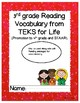 Reading Vocabulary Response Sheet with Book or Passage