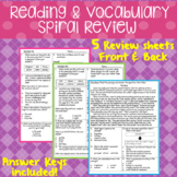Reading & Vocabulary Spiral Review