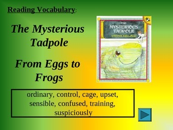 Reading Vocabulary The Mysterious Tadpole