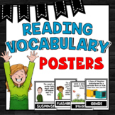 Reading Vocabulary Word Wall ~ 28 Reading Vocabulary Posters