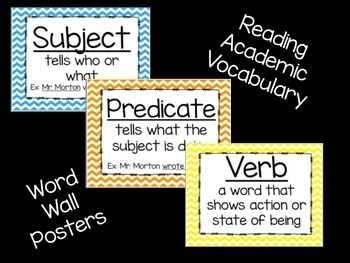 Reading Vocabulary- Word Wall Chevron