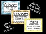 Reading Vocabulary- Word Wall Chevron