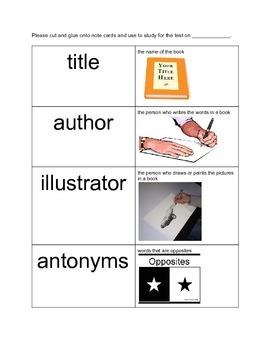 Reading Vocabulary and Quiz