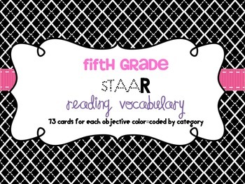 Reading Vocabulary for 5th Grade Reading STAAR
