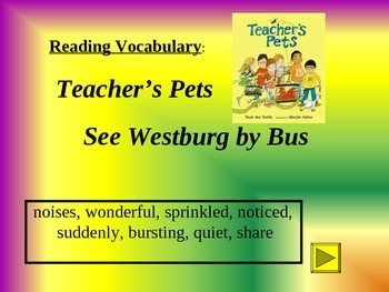 Reading Vocabulary for A Teacher's Pet