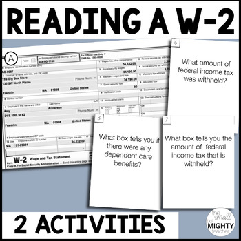 Reading W-2 Task Cards