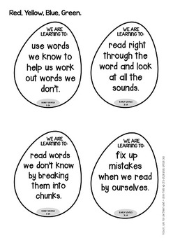 Reading WALTs - Learning Intention Wall Display