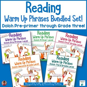 Dolch Warm Up Phrases Combined Set: Pre-Primer through Grade 3