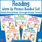 Dolch Warm Up Phrases Bundle   Pre Primer through Grade 3