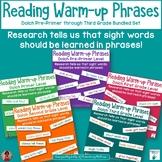 Dolch Warm Up Phrases Bundle   Pre Primer through Grade 3