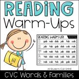 Reading Warm-Ups - CVC Words *EDITABLE*