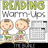 Reading Warm-Ups: Phonics Fluency Word Reading EDITABLE |