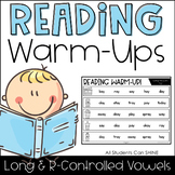 Reading Warm-Ups - Long & R-Controlled Vowels *EDITABLE*