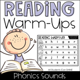 Reading Warm-Ups - Phonics Sounds *EDITABLE*