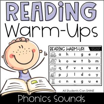 Reading Warm-Ups - Phonics Sounds *EDITABLE*