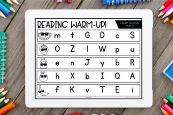 Reading Warm-Ups - Word Families *EDITABLE*