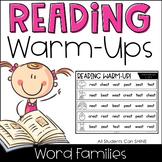 Reading Warm-Ups - Word Families *EDITABLE*