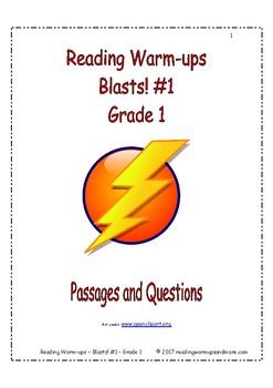 Reading Warm-ups - Blasts! #1 - Grade 1