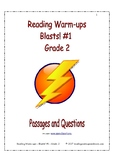 Reading Warm-ups - Blasts! #1 - Grade 2