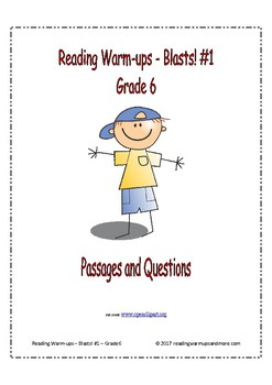 Reading Warm-ups - Blasts! #1 - Passages and Questions - Grade 6