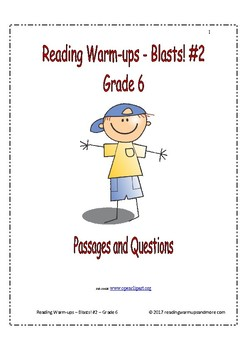 Reading Warm-ups - Blasts! #2 - Passages and Questions - Grade 6