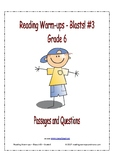 Reading Warm-ups - Blasts! #3 - Passages and Questions - Grade 6