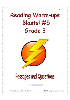 Reading Warm-ups - Blasts! #5 - Grade 3