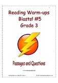 Reading Warm-ups - Blasts! #5 - Grade 3