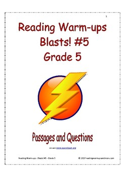 Reading Warm-ups - Blasts! #5 - Grade 5